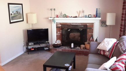 North Eastham Cape Cod vacation rental - Living room from main front door