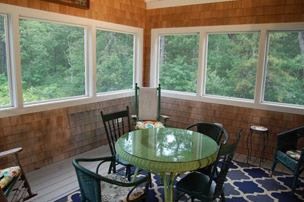 Wellfleet Cape Cod vacation rental - Mid level screened in porch (main house)