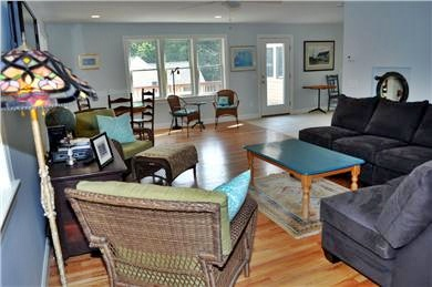 Wellfleet Cape Cod vacation rental - TV and Living Area