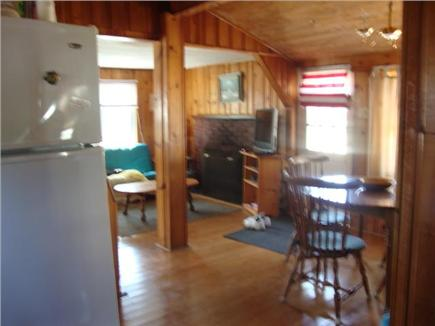 dennis port Cape Cod vacation rental - View from kitchen to open living and dining room