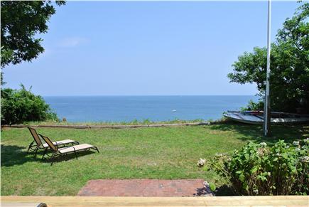 Manomet,  Plymouth Manomet vacation rental - Grassy backyard.