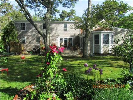 Chatham Cape Cod vacation rental - Fenced Back Yard - sun, flowers, herbs, hammock!