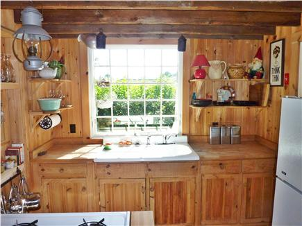 Provincetown Cape Cod vacation rental - Kitchen with Door to Patio