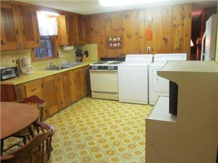 Popponesset, Mashpee Cape Cod vacation rental - Eat-in kitchen with washer/dryer