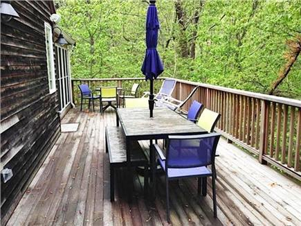 Wellfleet Cape Cod vacation rental - Partial view of large deck for outdoor dining and relaxing