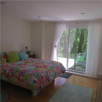 Wellfleet Cape Cod vacation rental - Bedroom with slider onto wooded back patio