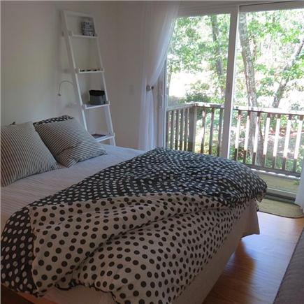 Wellfleet Cape Cod vacation rental - Bedroom with queen bed and sliders to small balcony