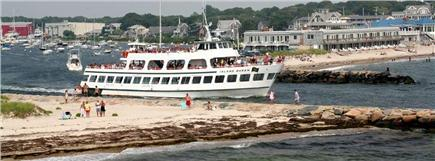 Falmouth, Surf Beach Cape Cod vacation rental - Island Queen Ferry leaving Falmouth Harbor