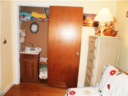 Falmouth, Surf Beach Cape Cod vacation rental - Sink and Towels Closet