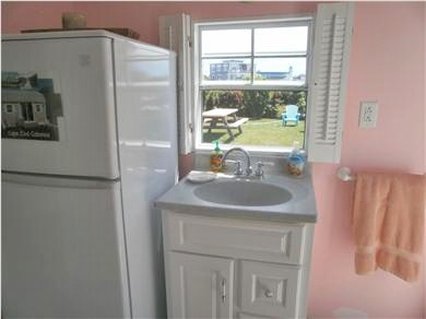 Falmouth, Surf Beach Cape Cod vacation rental - Full fridge and sink in Beach Cabana