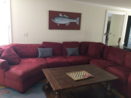 Osterville Osterville vacation rental - Large comfy family room couch.
