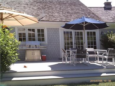 Osterville Osterville vacation rental - Large back deck with Grill and Patio furniture.