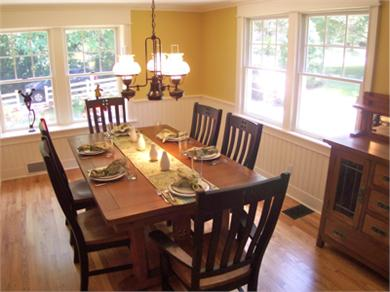 West Barnstable Cape Cod vacation rental - The dining room is off the kitchen