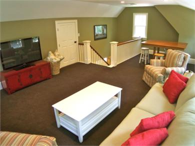 West Barnstable Cape Cod vacation rental - The upper level loft has a 50'' TV and cozy seating