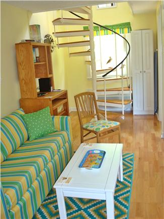 West Dennis Cape Cod vacation rental - Spiral staircase takes you to second floor.