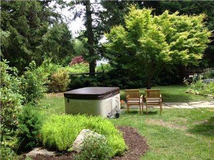 Pocasset Pocasset vacation rental - Spa/Hot Tub area in private large beautiful back yard.