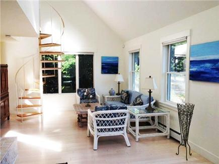 Pocasset Pocasset vacation rental - Dramatic living room, fireplace and 2 seating areas (1 shown)