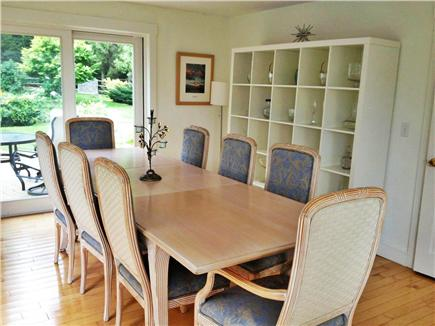 Pocasset Pocasset vacation rental - Large dining room, seating for 10 leads to deck and backyard