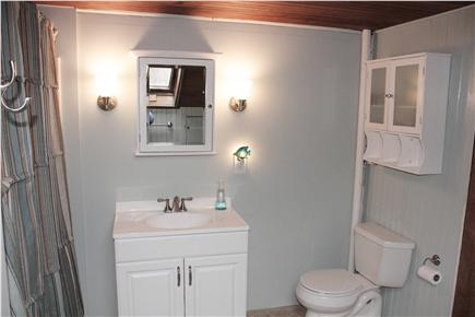 East Harwich Cape Cod vacation rental - Newly renovated bathroom with tub/shower combination.
