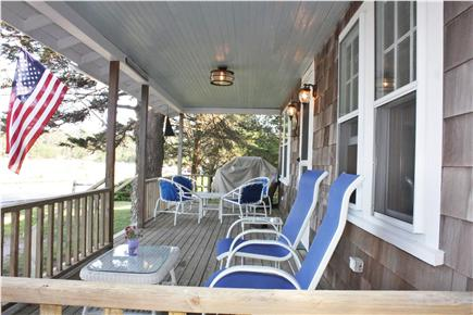 East Harwich Cape Cod vacation rental - Front porch at sunrise. Great place to have your coffee.