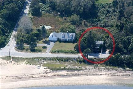 East Harwich Cape Cod vacation rental - Cottage location is circled. Just steps from Pleasant Bay!