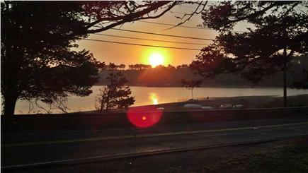 East Harwich Cape Cod vacation rental - Sunrise from porch.