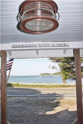 East Harwich Cape Cod vacation rental - View out the cottage front door.