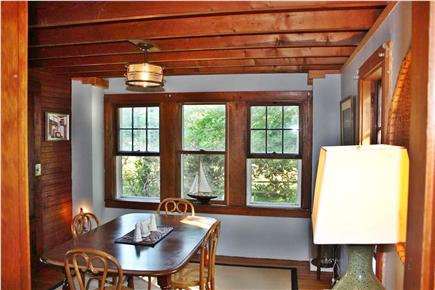 East Harwich Cape Cod vacation rental - Dining room with pretty view outside.