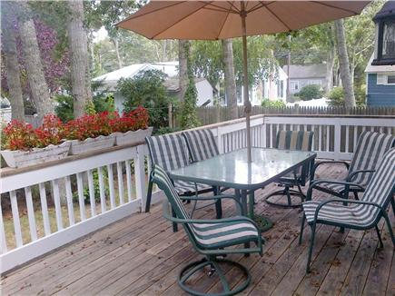 Falmouth Cape Cod vacation rental - Rear deck overlooking large fenced in yard