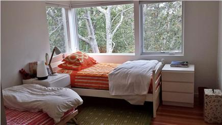 Wellfleet Cape Cod vacation rental - 2nd bedroom with twin beds & view of woods