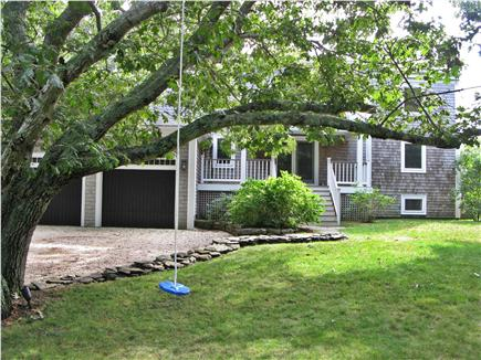 Wellfleet Cape Cod vacation rental - Front of house has grass and swing for lots of play time