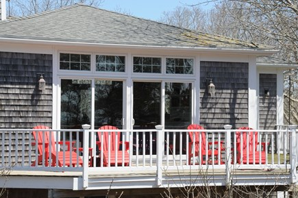 Wellfleet Cape Cod vacation rental - Adirondack chairs overlooking the bay and sunsets.