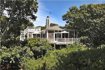 Wellfleet Cape Cod vacation rental - Deck, living room, and master bed have bay views and privacy