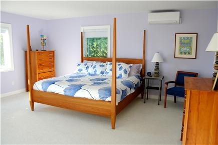 Wellfleet Cape Cod vacation rental - Master bedroom with king bed and A/C