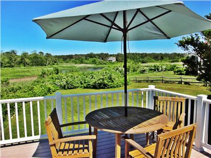 Brewster Cape Cod vacation rental - Ocean view from left side of deck, Freeman Pond on the right!