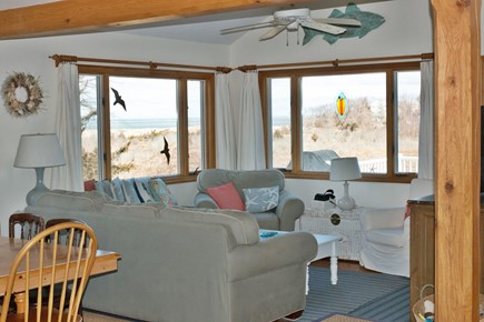 Brewster Cape Cod vacation rental - Famly room with amazing views of the ocean
