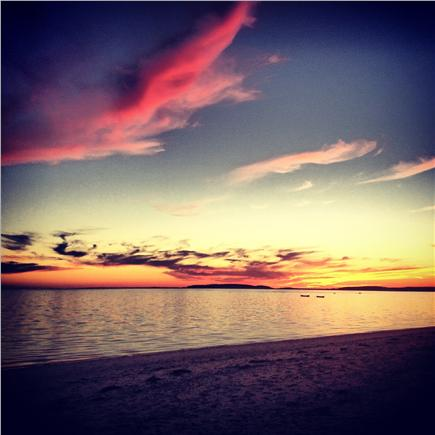Wellfleet Cape Cod vacation rental - Sunset at near by beach