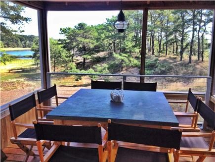 Wellfleet Cape Cod vacation rental - Screened in deck dining w/ marsh view