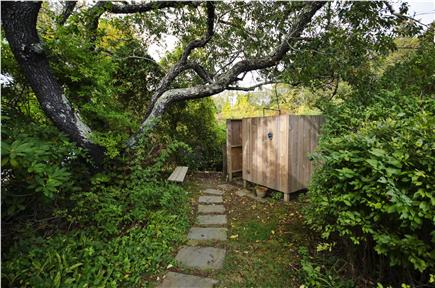 East Orleans Cape Cod vacation rental - Path to Beach, Outdoor shower