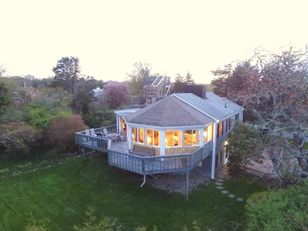 East Orleans Cape Cod vacation rental - Twilight view back towards house from ocean side