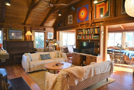 East Orleans Cape Cod vacation rental - 2 large living rooms to spread out and enjoy with beautiful art