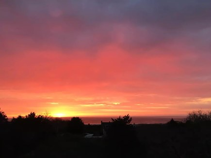 East Orleans Cape Cod vacation rental - Sunrise from the upper deck