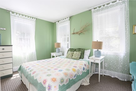 Orleans Cape Cod vacation rental - Green bright green bedroom gets the afternoon summer sun