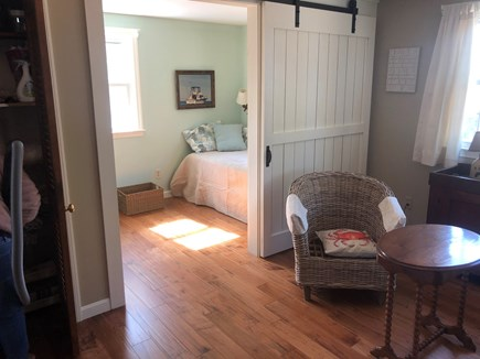 North Eastham Cape Cod vacation rental - 1st barn door room with Twin