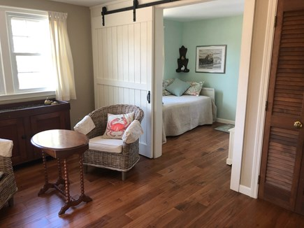 North Eastham Cape Cod vacation rental - 2nd barn door room with twin.