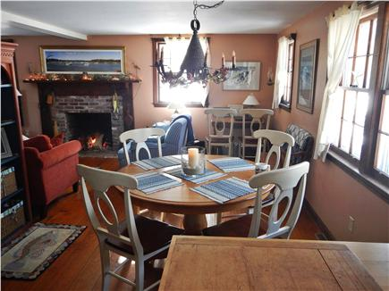 North Eastham Cape Cod vacation rental - Open floor layout Dining / Living area.