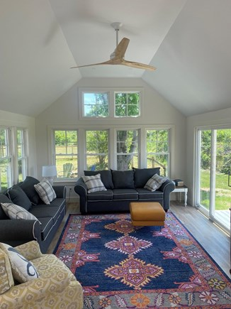 TRURO Cape Cod vacation rental - Three season sun room just completed for 2021.