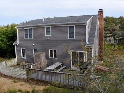 Truro Cape Cod vacation rental - Back deck with outdoor beach shower