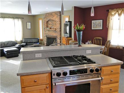 Truro Cape Cod vacation rental - Modern kitchen with Jenn-air stove