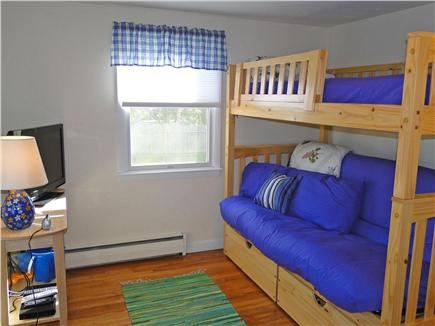 West Yarmouth Cape Cod vacation rental - 1st floor bedrm - bunk bed w full trundle bottom & twin on top